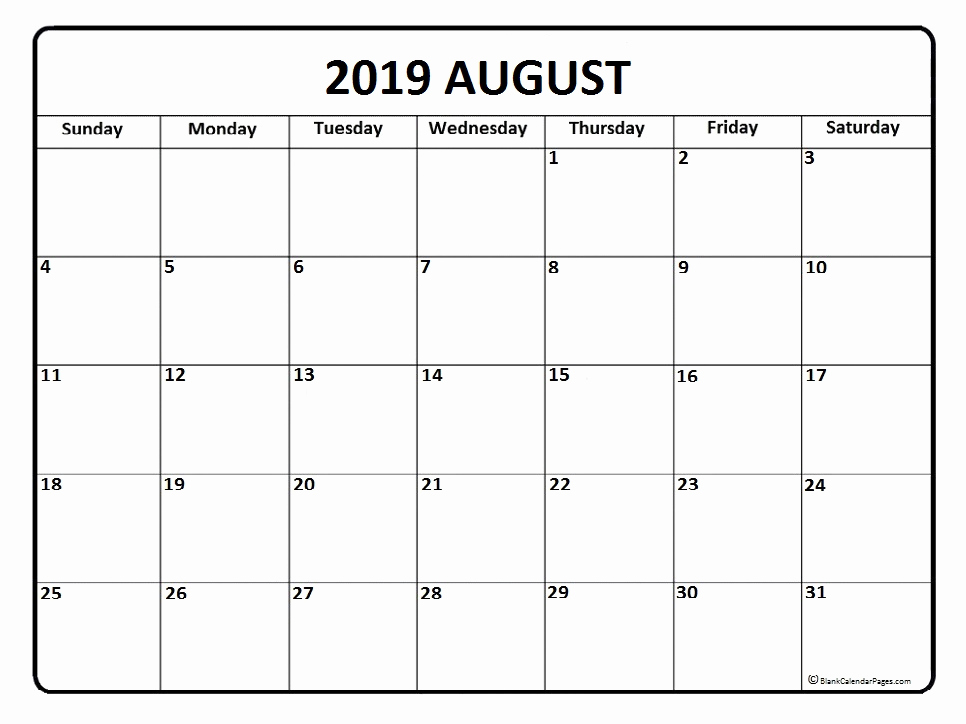 Blank Calendar Pdf August 2019.Top 25 Free August 2019 Calendar Pdf Word Page Excel Landscape