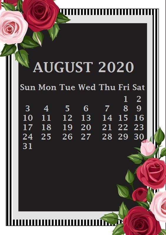 August 2020 Calendar Wallpaper