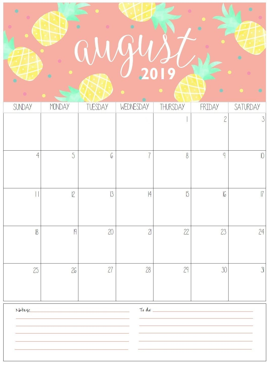 photo regarding Free August Calendar Printable identify Lovable August 2019 Calendar - Free of charge August 2019 Calendar