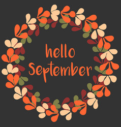 Hello September Vector Images