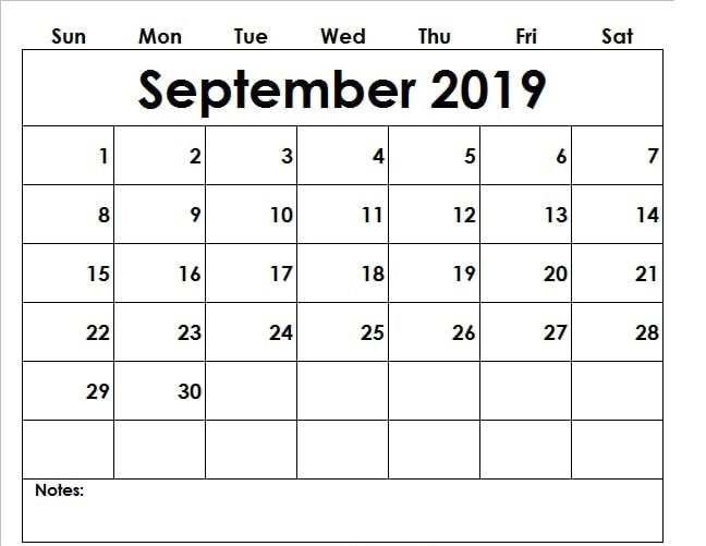 September 2019 Calendar With Holidays UK