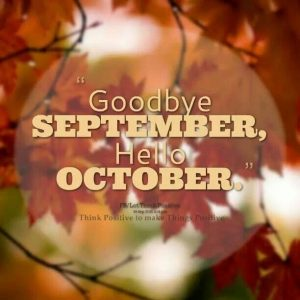 Goodbye September Hello October Images