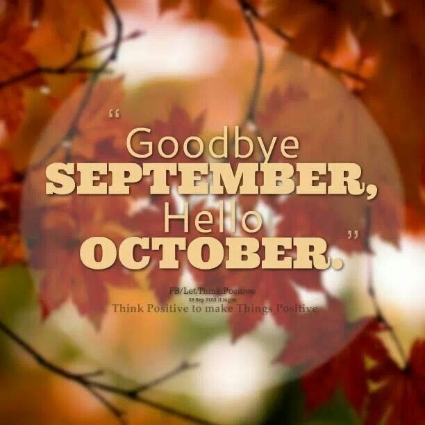 Goodbye September Hello October Images