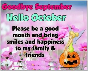 Goodbye September Hello October Month Quotes