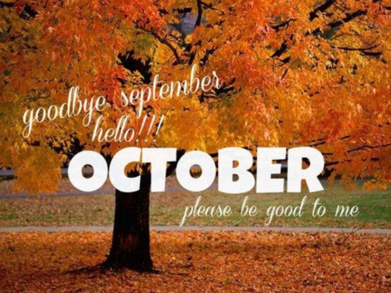 Goodbye September Hello October Pinterest