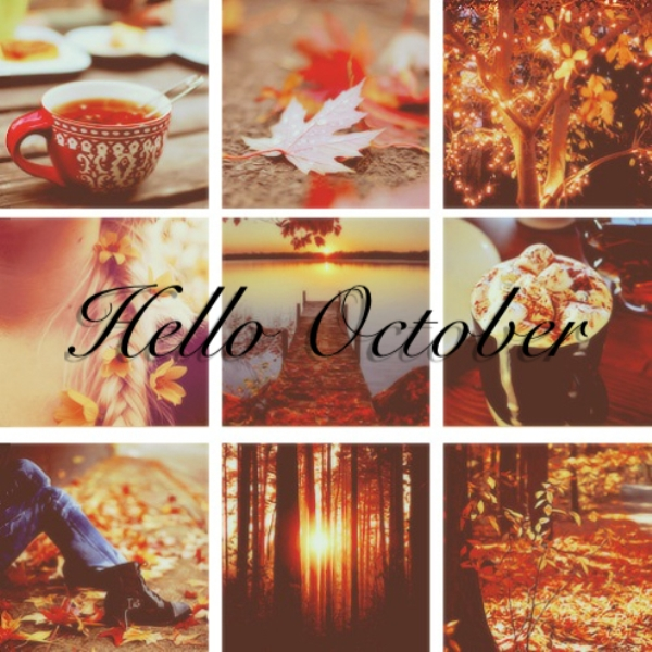 Hello October Month Images