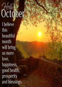 Hello October Quotes Pinterest
