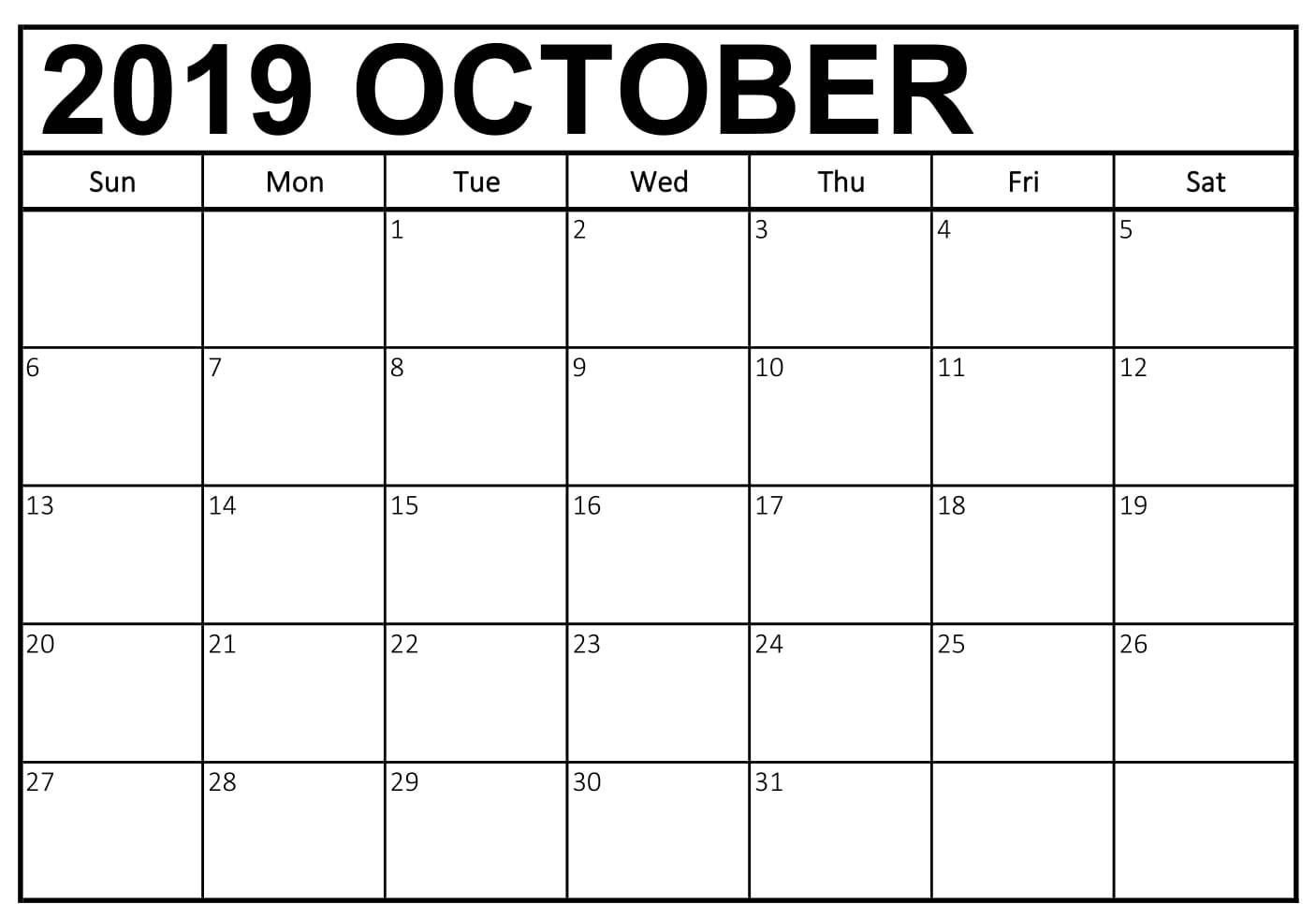 photograph relating to Printable Notes Page identify Oct 2019 Calendar with Notes Site - Totally free August 2019