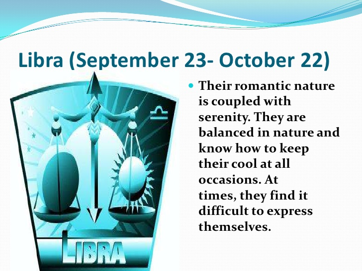 Personality Characteristics of October Zodiac Sign