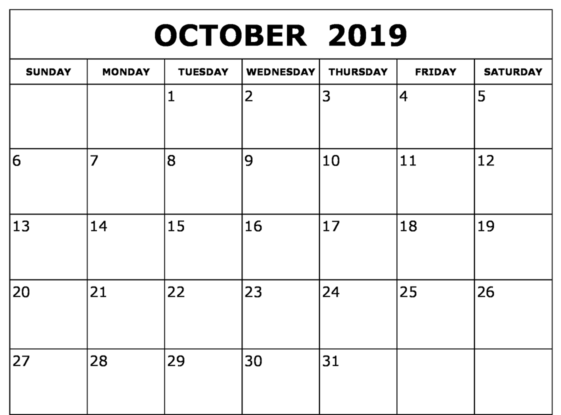 photograph about Free Printable October Calendars identify Absolutely free Oct 2019 Calendar Printable Template PDF Notes Web page