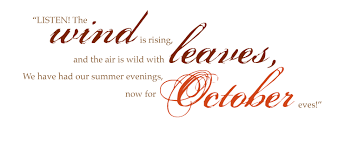 Welcome October Quotes For Calendars