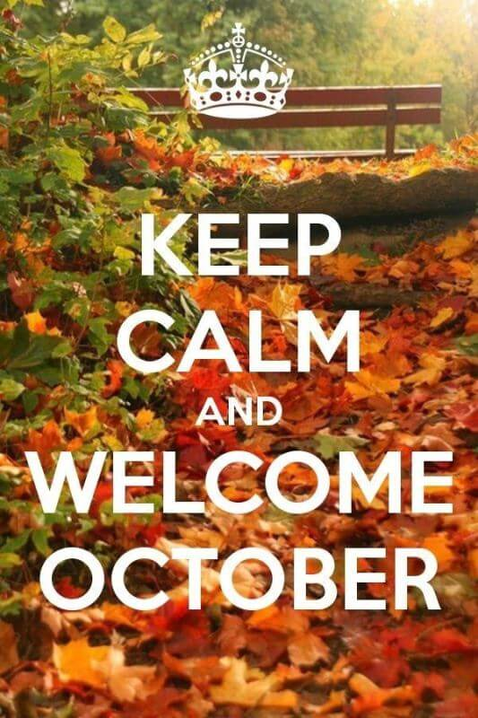 Welcome October WhatsApp Images