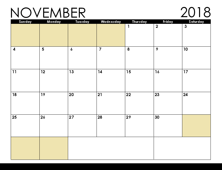 graphic regarding Printable November Calendar Pdf titled ✅ 99+ Cost-free Down load November 2019 Calendar Printable