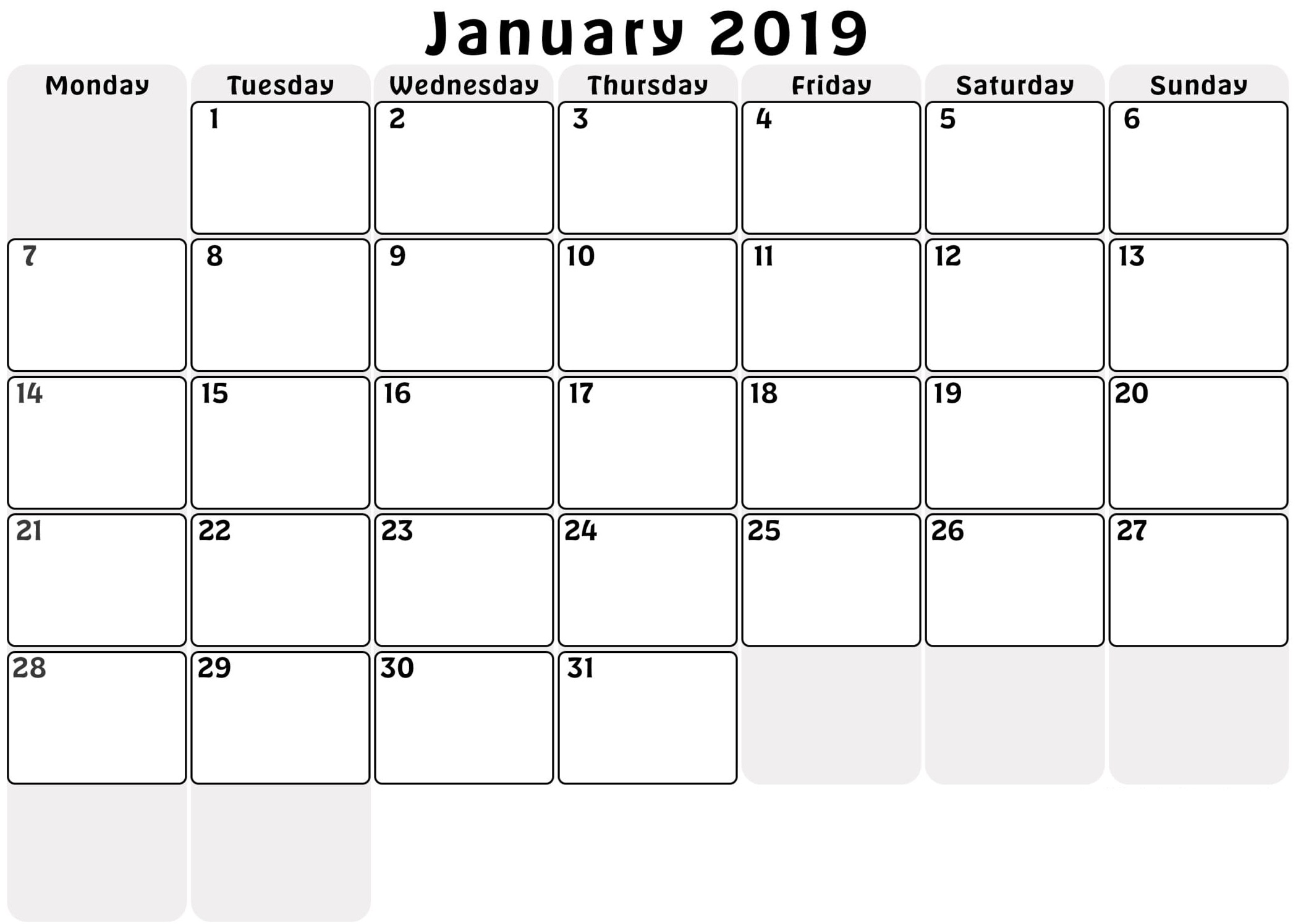 photo relating to January Calendar Printable referred to as January 2019 Calendar Month to month Printable - Totally free August 2019