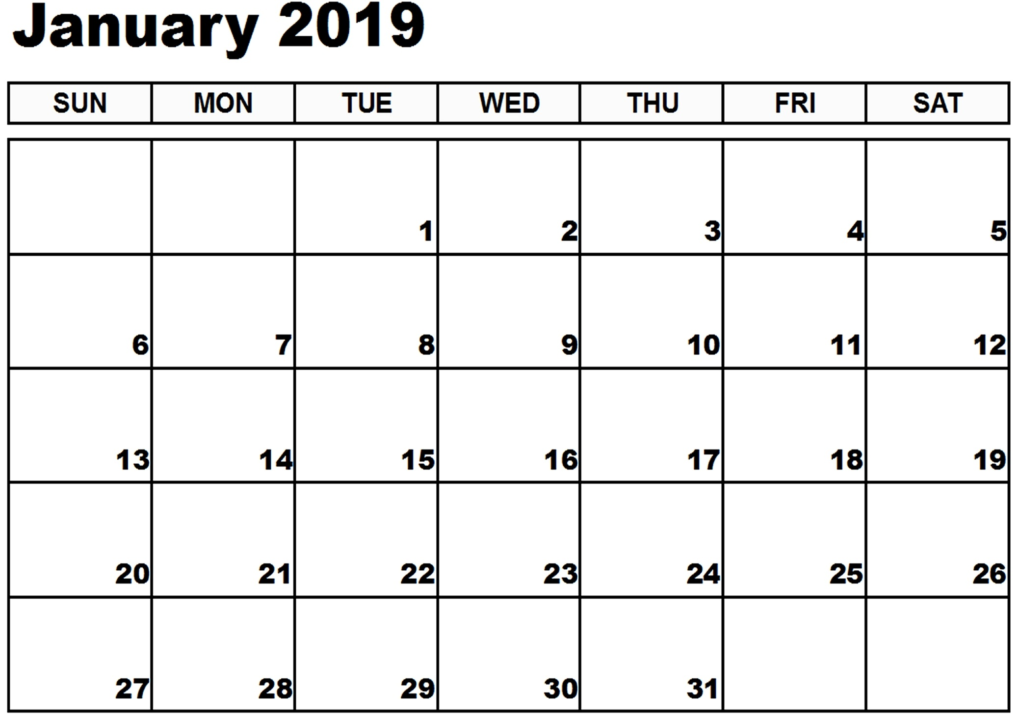 January 2019 Calendar Xls Free March 2019 Calendar Printable