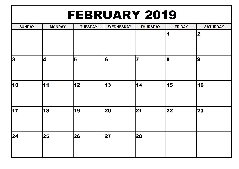 photo about Printable February Calendar named February 2019 Calendar Printable - Cost-free August 2019 Calendar