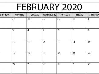 February 2020 Calendar PDF