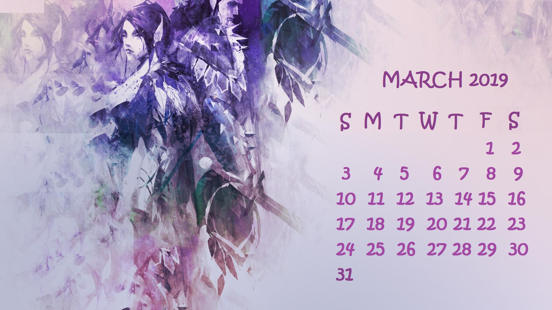 March 2019 Calendar Cute Desktop Wallpaper