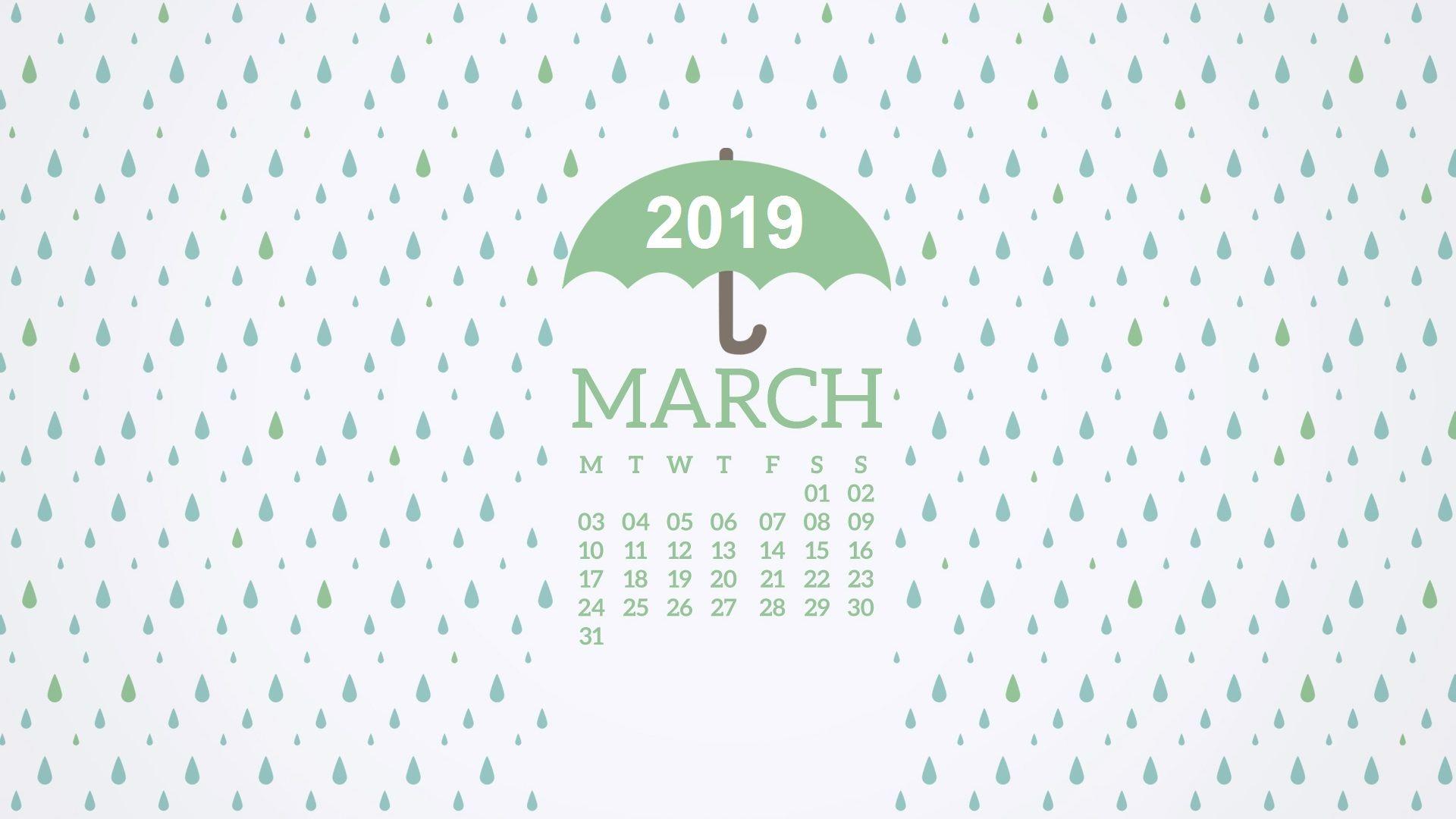 March 2019 Desktop Calendar