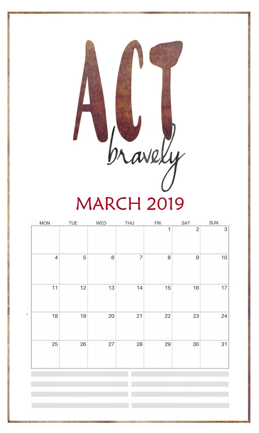 March 2019 Quotes Wall Calendar