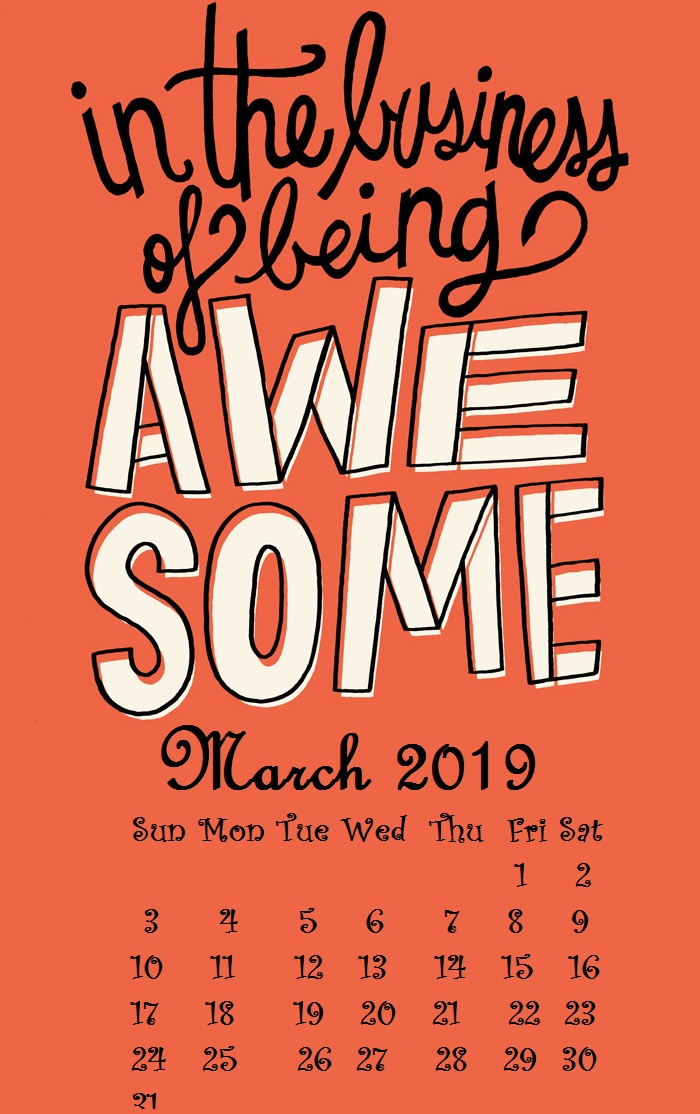 March 2019 iPhone quotes Wallpaper