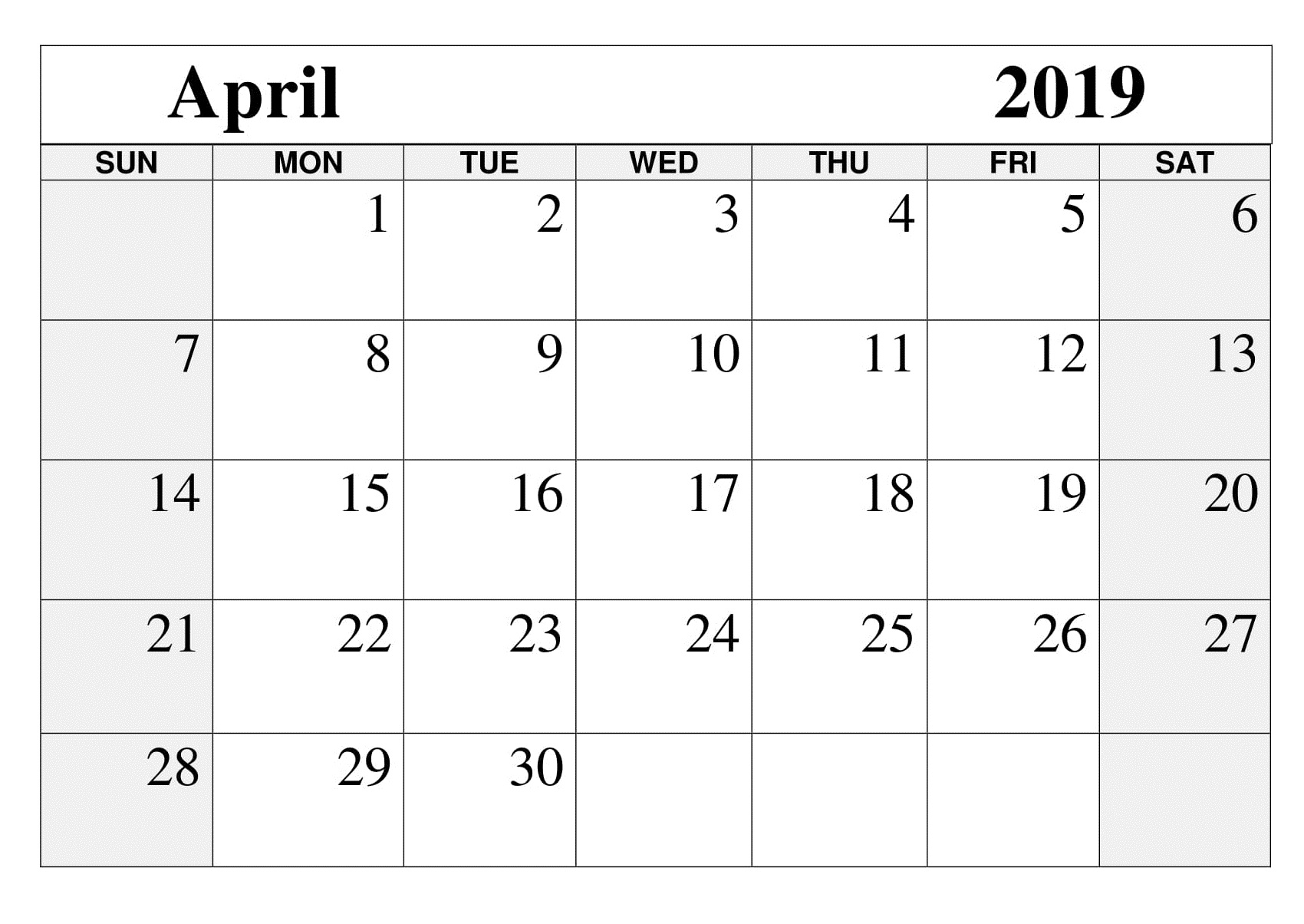 Printable April 2019 Calendar Free March 2019 Calendar Printable