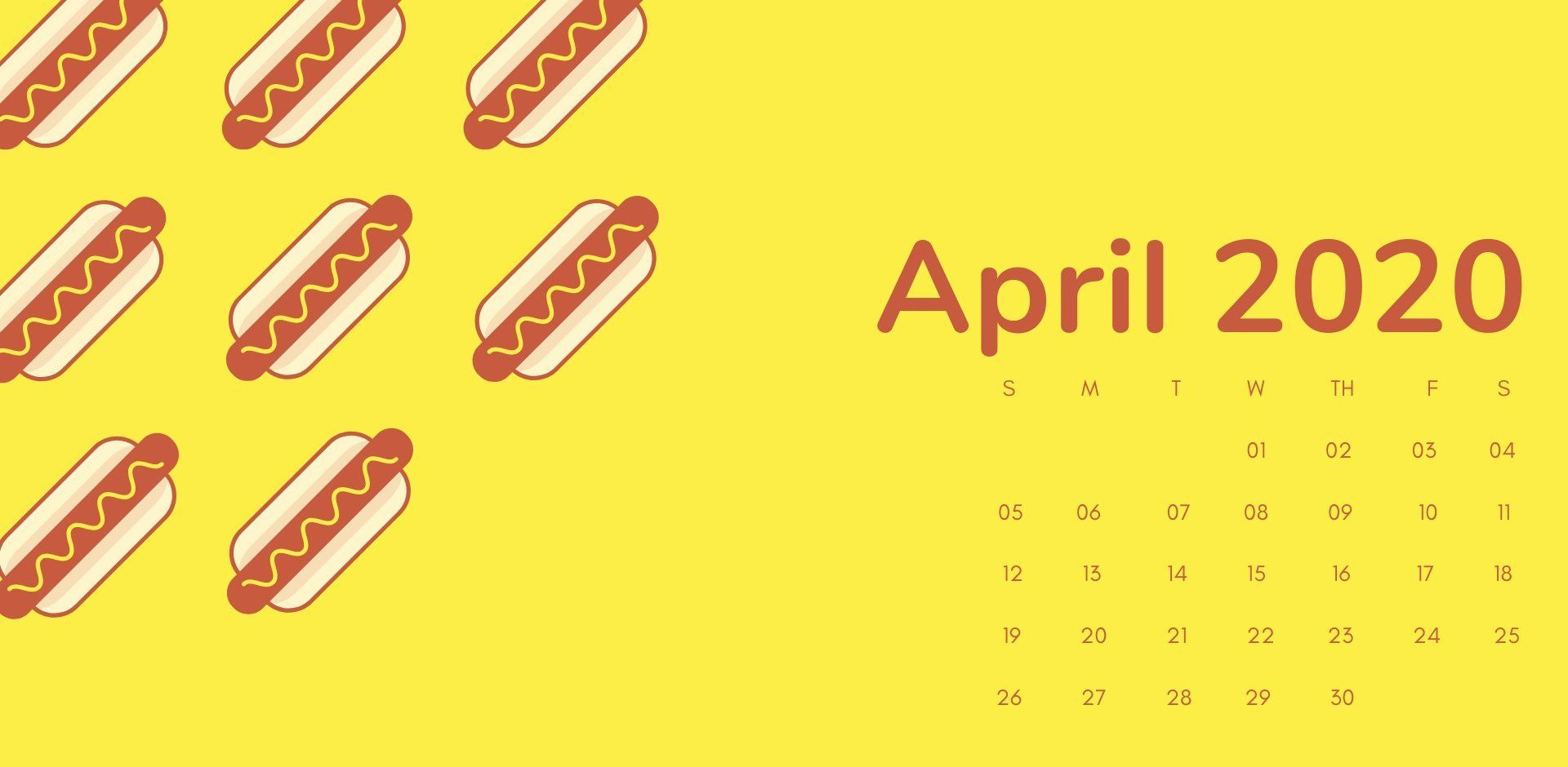 April 2020 Calendar Wallpaper