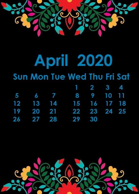April 2020 iPhone Calendar Wallpaper