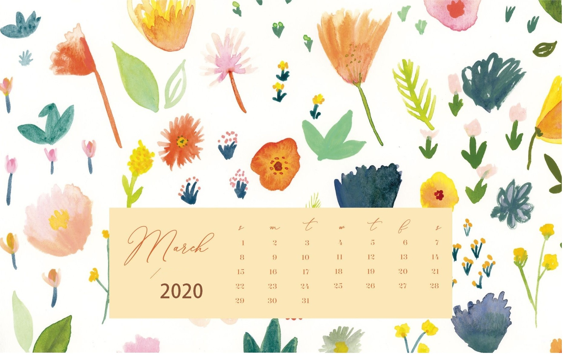 March 2020 Desktop Wallpaper
