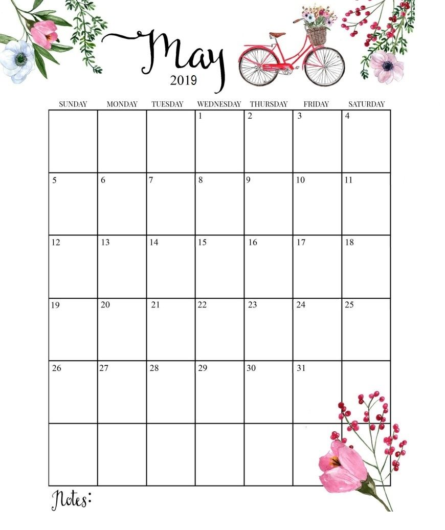 May 2019 Wall Calendar