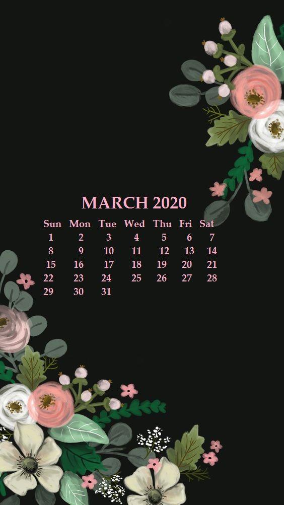 iPhone March 2020 Calendar