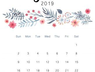 Cute June Calendar 2019 Wallpaper