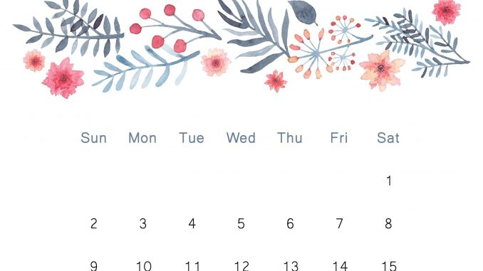 cute june 2019 calendar floral design wallpaper