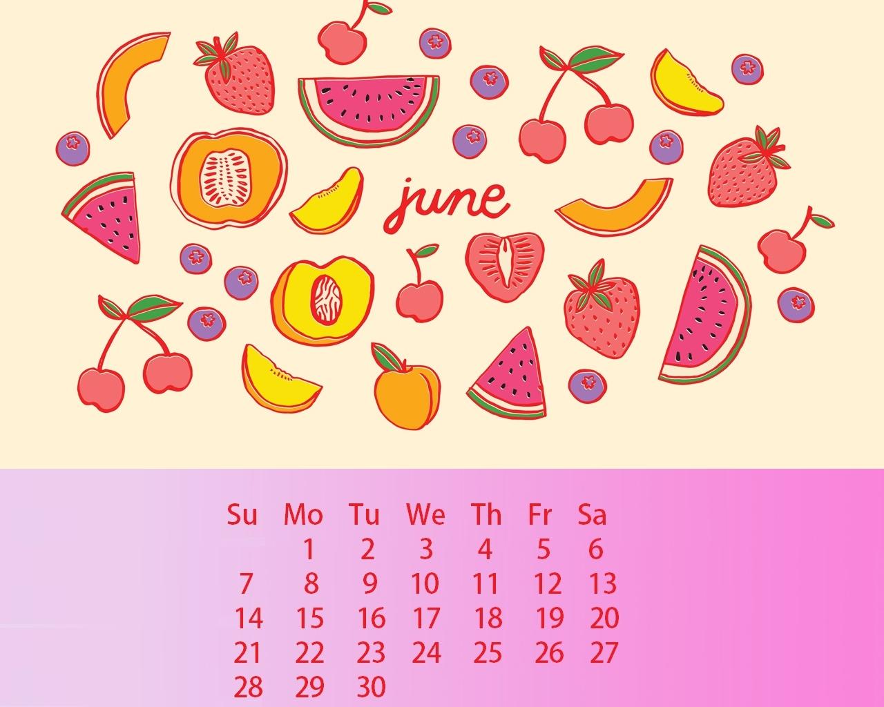 Floral June 2020 Calendar