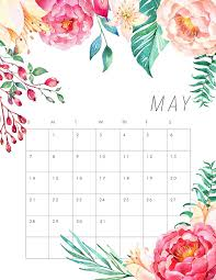 Floral May Calendar 2020