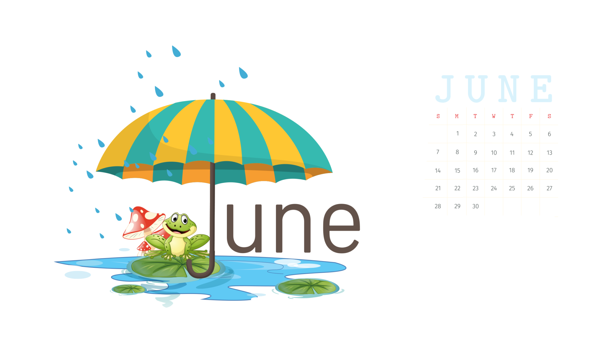 June 2020 Calendar Wallpaper for iPhone
