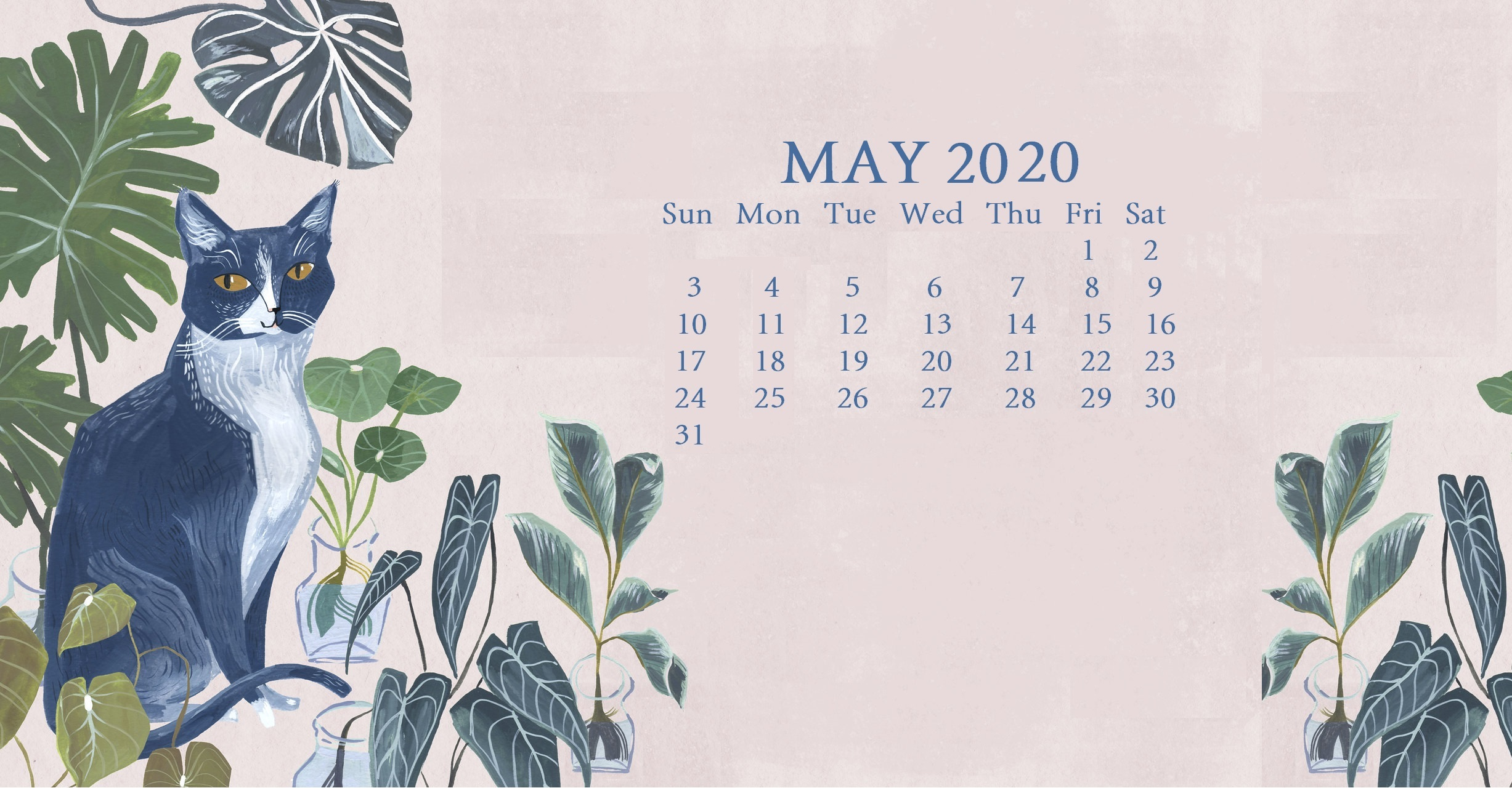 May 2020 Calendar Wallpaper