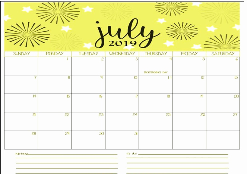july 2019 calendar printable blank templates