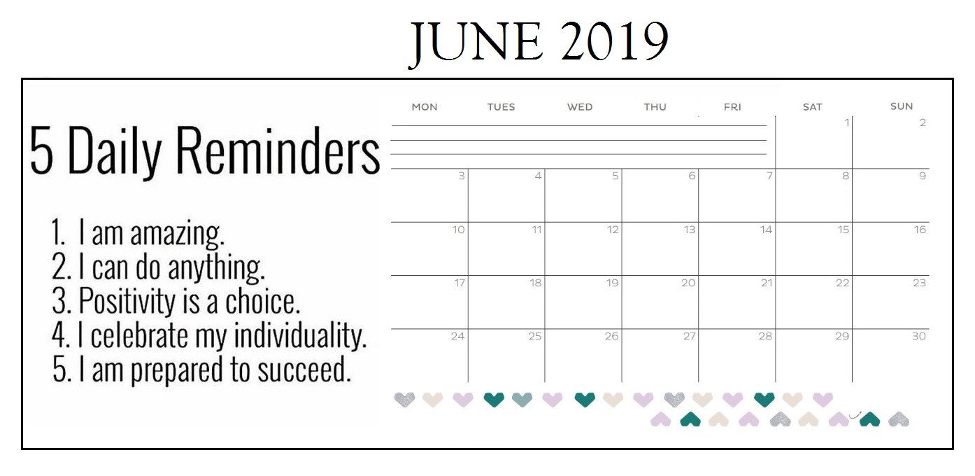 Inspiring June 2019 Calendar For Desk