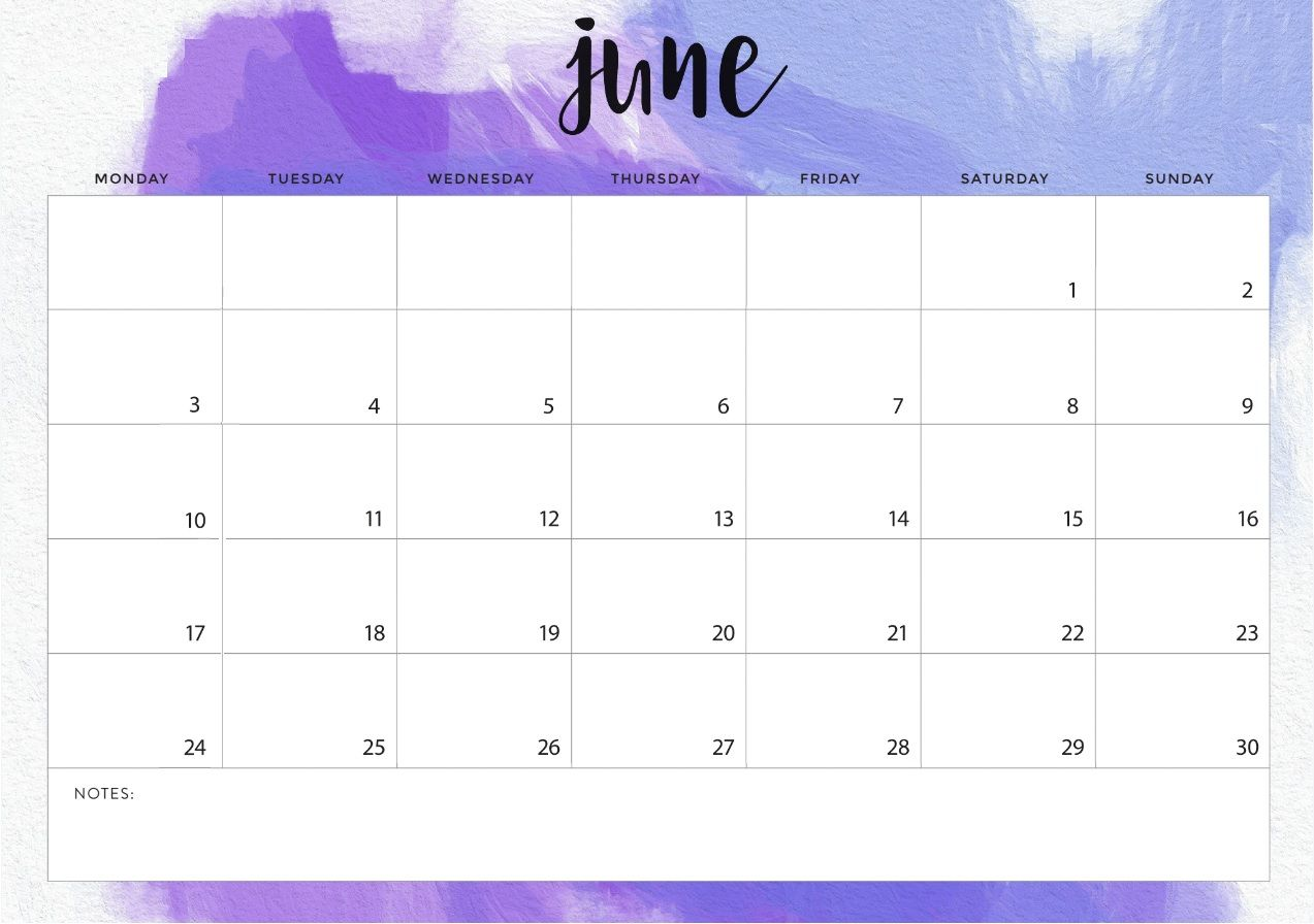 June 2019 Desk Calendar