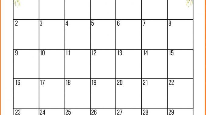 June 2019 Floral Wall Calendar