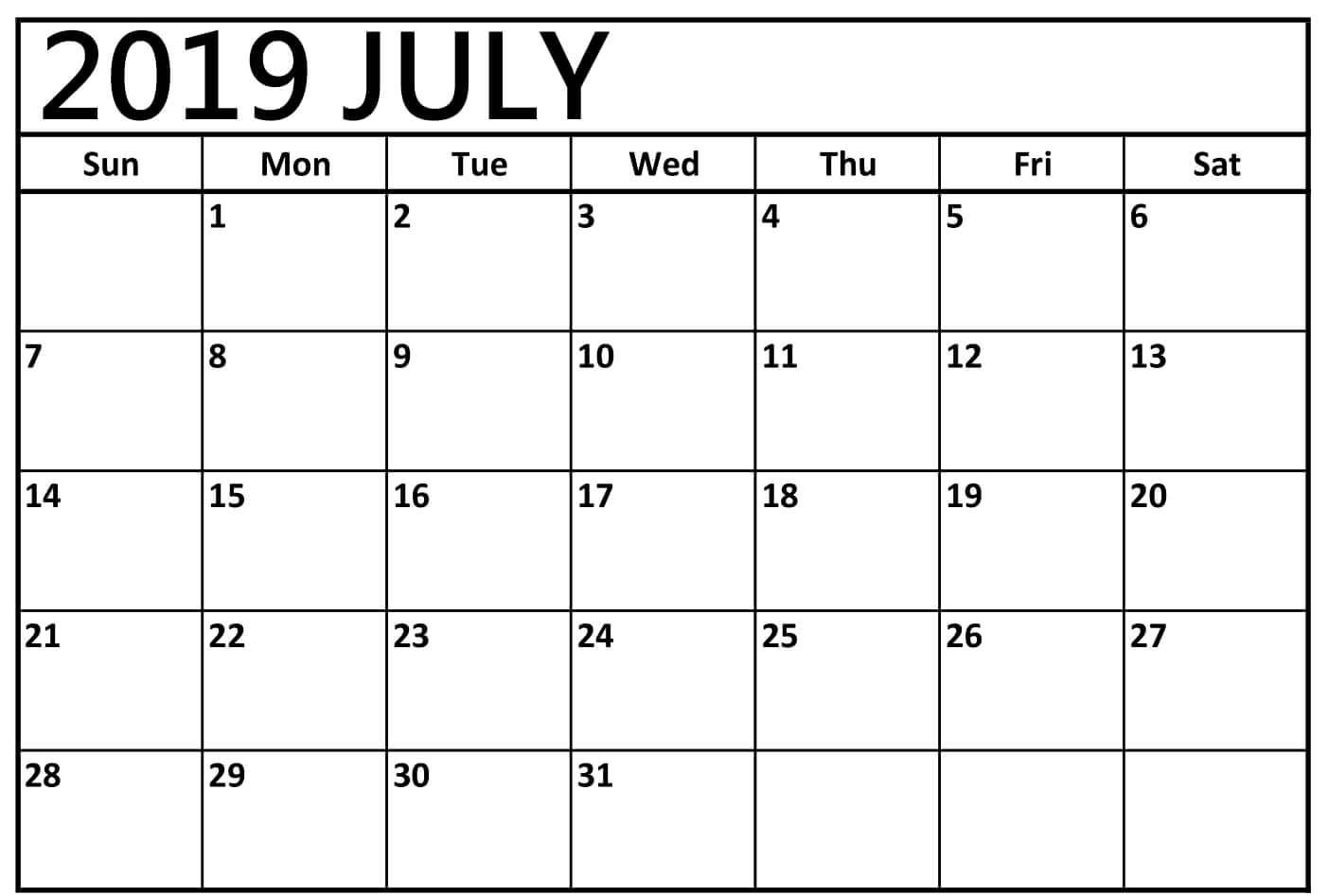 photo relating to Printable July Calendar referred to as Printable July 2019 Calendar Down load - Absolutely free August 2019