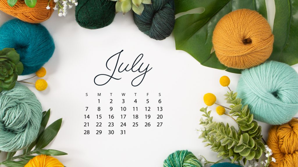 Floral July 2020 Desktop Calendar