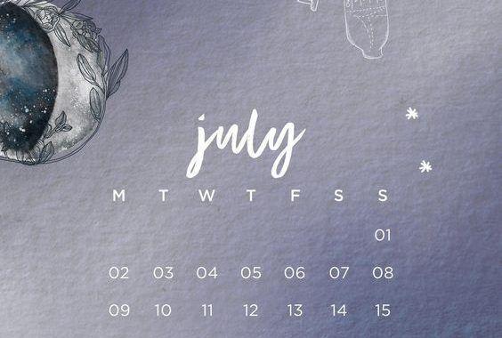 Floral July Calendar 2020