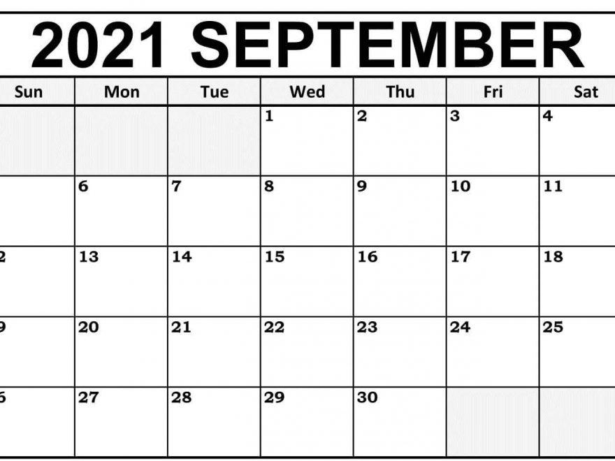 2021 September Calendar Printable Template