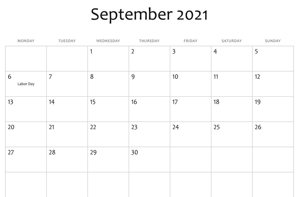 sept 2021 editable calendar holidays
