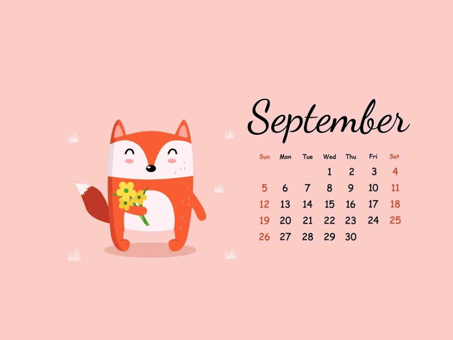 Cute Sept Calendar 2021