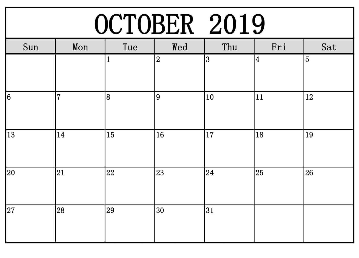 Oktober 2019 Kalenderwort