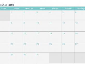 Palabra de calendario de octubre de 2019