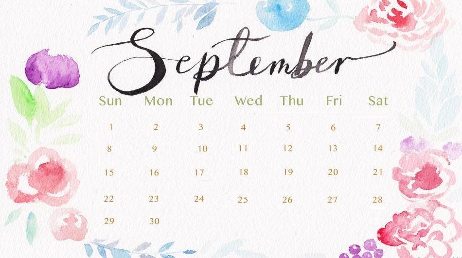 September 2019 Calendar HD Wallpaper